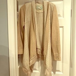 Anthropologie Tan/Cream Cardigan